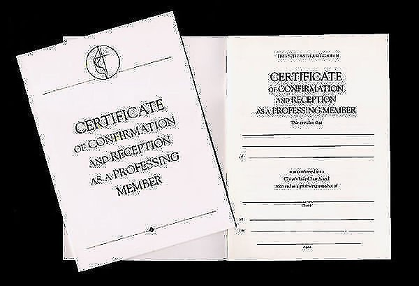 United Methodist Covenant I Confirmation Certificate (Certificate)