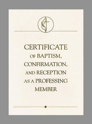 United Methodist Covenant I Baptism, Confirmation & Receptio (Certificate)