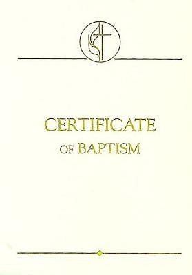 United Methodist Covenant II Child Baptism Certificates (Pkg (Miscellaneous Print)
