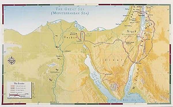 Abingdon Bible Land Map--The Exodus (Miscellaneous Print)