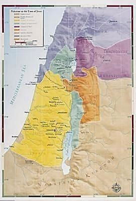 Abingdon Bible Land Map--Palestine in the Time of Jesus (Miscellaneous Print)