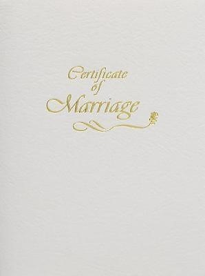 Contemporary Marriage Certificate Booklet with Traditional S (Miscellaneous Print)