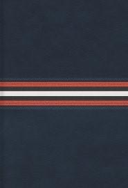 RVR 1960 Biblia Letra Grande Tamaño Manual, azul marino piel (Bonded Leather)