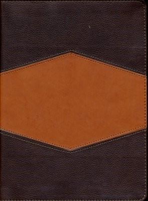 RVR 1960 Biblia de Estudio Holman, chocolate/terracota, sími (Imitation Leather)