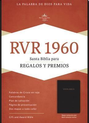 RVR 1960 Biblia para Regalos y Premios, negro imitación piel (Imitation Leather)