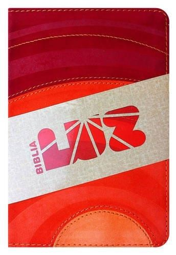 RVC Biblia Luz, amarillo/naranja/amapola símil piel (Imitation Leather)