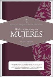 RVR 1960 Biblia de Estudio para Mujeres, vino tinto/fucsia s (Imitation Leather)