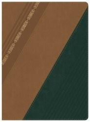 RVR 1960 Biblia de Estudio Holman, castaño/verde bosque con (Imitation Leather)