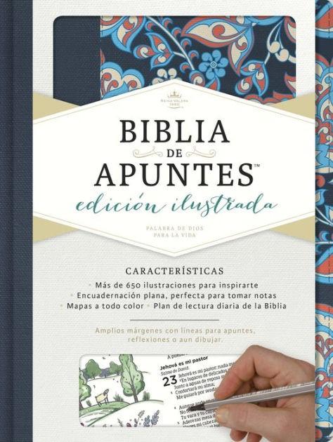 RVR 1960 Biblia de apuntes, edición ilustrada, tela en rosad (Hard Cover)