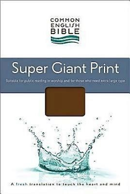 CEB Super Giant Print Bible, Padded Brown Hardcover (Hard Cover)