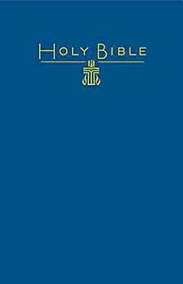 CEB Common English Pew Bible Blue PCUSA Emblem (Hard Cover)