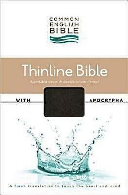 CEB Common English Thinline Bible with Apocrypha DecoTone Bl