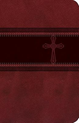 CEB Common English Bible Compact Thin Red DecoTone with Cros (Leather Binding)