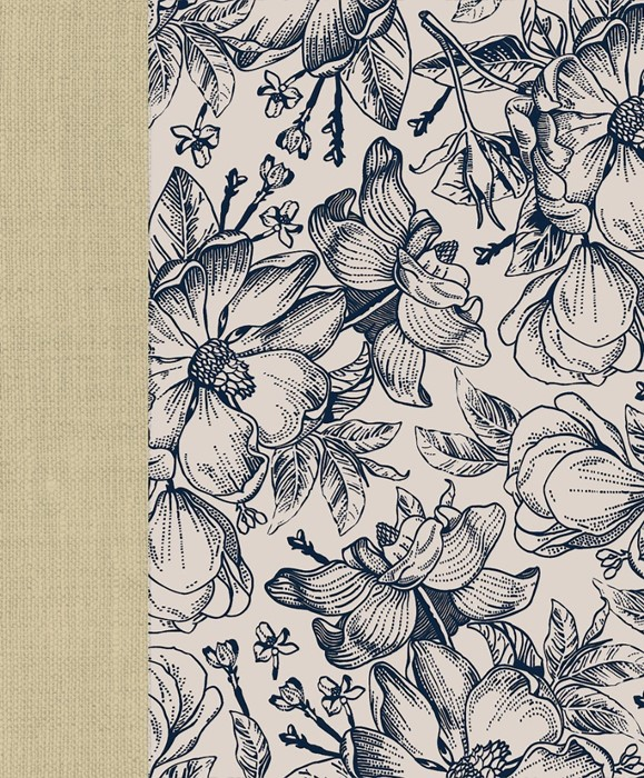 CEB Wide-Margin Navy Floral Bible (Hard Cover)