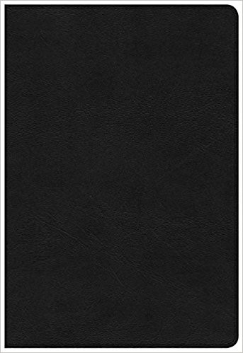 KJV Large Print Ultrathin Reference Bible, Premium Black Gen (Leather Binding)