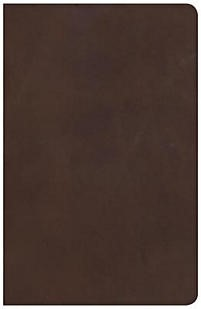 NKJV Large Print Personal Size Reference Bible, Brown (Leather Binding)