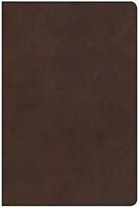 NKJV Giant Print Reference Bible, Brown, Indexed (Leather Binding)