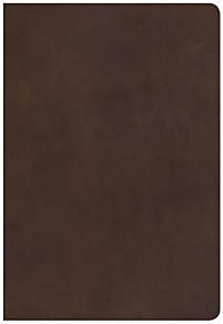 NKJV Super Giant Print Reference Bible, Brown (Leather Binding)