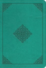 ESV Value Large Print Compact Bible TruTone, Teal, Ornament (Imitation Leather)
