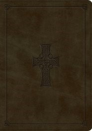 ESV Study Bible TruTone, Olive, Celtic Cross Design (Imitation Leather)