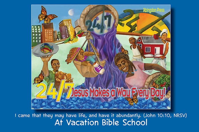 VBS 2018 24/7 Invitation Postcards (Pack of 24) (Postcard)
