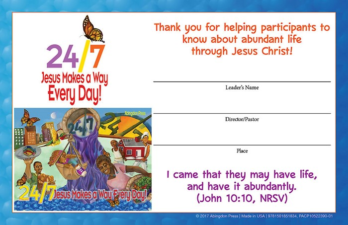 VBS 2018 24/7 Leader Certificates (Pack of 12) (Certificate)