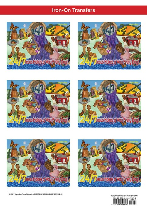 VBS 2018 24/7 Iron-On Transfers (Pack of 12) (General Merchandise)