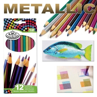 Metallic Coloured Pencil Set 12-piece (Kit)