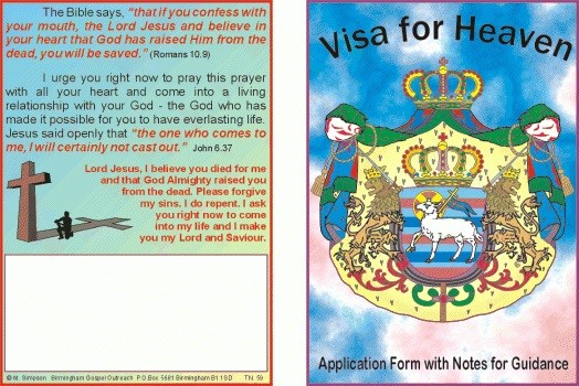 Tracts: Visa For Heaven 50-Pack (Tracts)