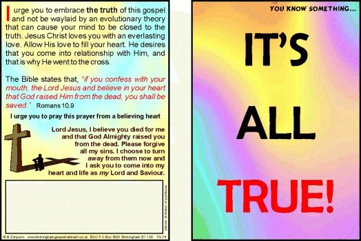 Tracts: It's All True 50-Pack (Tracts)