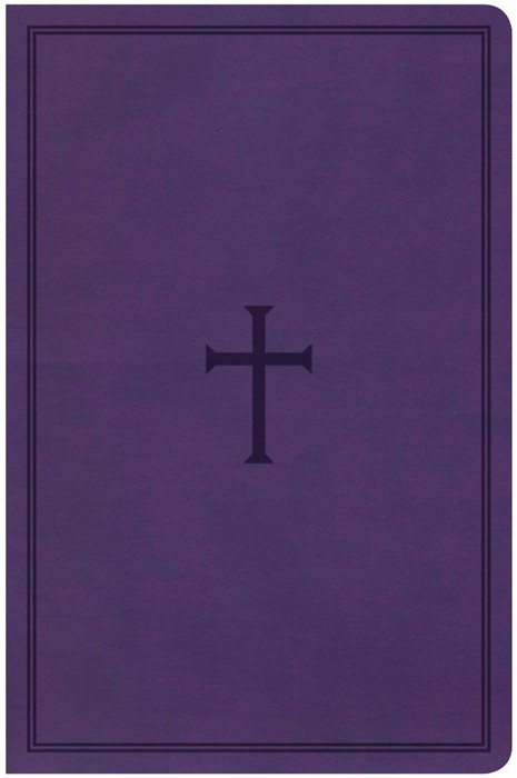 KJV Large Print Personal Size, Purple Cross LeatherTouch (Imitation Leather)