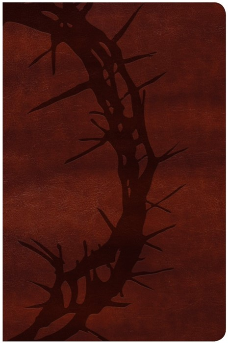 KJV Large Print Personal Size, Brown Crown of Thorns (Imitation Leather)