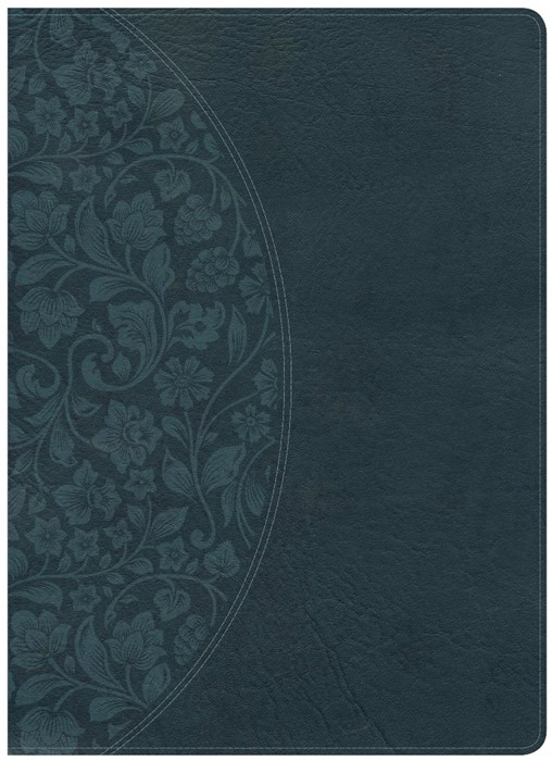 KJV Study Bible Large Print Edition, Dark Teal, Indexed (Imitation Leather)