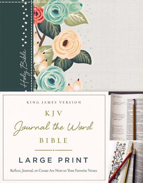KJV Journal the Word Bible Large Print HB (Hard Cover)