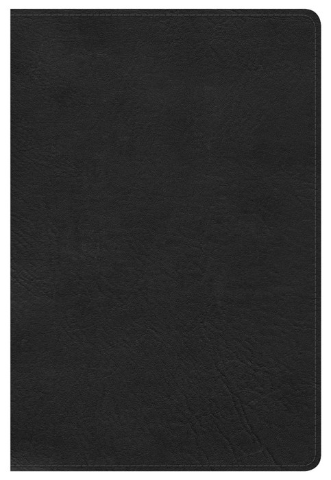 HCSB Large Print Personal Size Bible, Black, Indexed (Imitation Leather)