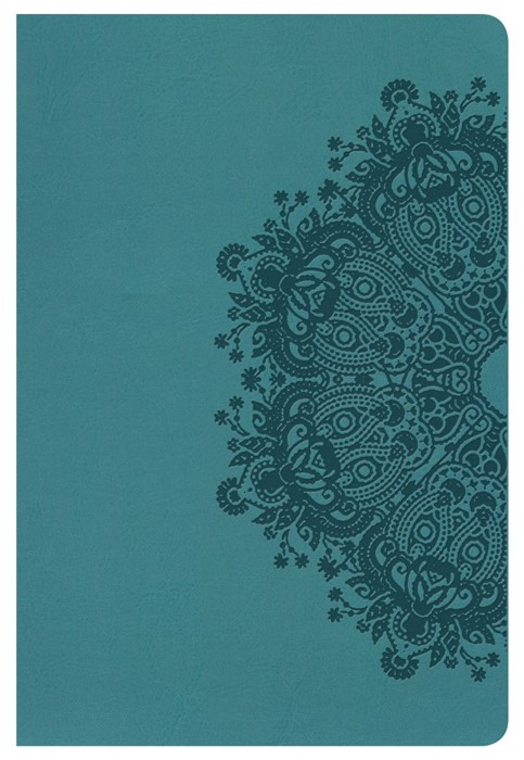 HCSB Large Print Personal Size Bible, Teal Leathertouch (Imitation Leather)