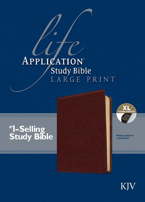 KJV Life Application Study Bible Large Print, Brown, Indexed (Imitation Leather)
