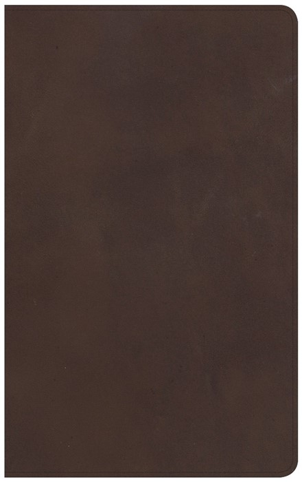 CSB Ultrathin Reference Bible, Brown Leather, Indexed (Genuine Leather)