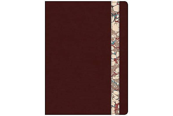 CSB Spurgeon Study Bible, Burgundy/Marble LeatherTouch® (Imitation Leather)