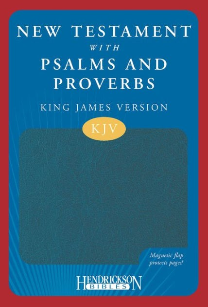KJV New Testament with Psalms & Proverbs Magnetic Flap Blue (Imitation Leather)
