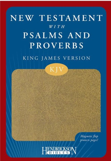 KJV New Testament with Psalms & Proverbs Magnetic Flap Tan (Imitation Leather)