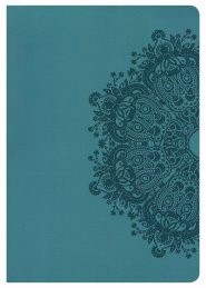 NKJV Super Giant Print Reference Bible, Teal Leathertouch (Imitation Leather)