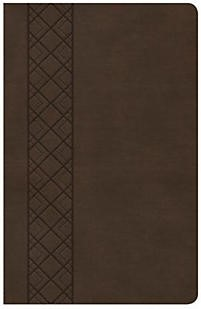 CSB Ultrathin Reference Bible, Value Edition, Brown (Imitation Leather)