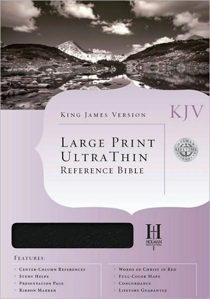 KJV Ultrathin Large Print Reference, Blue (Bonded Leather)