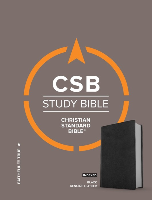 CSB Study Bible, Brown Genuine Leather, Indexed (Leather Binding)