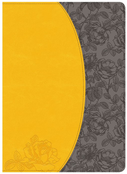 NKJV Holman Study Bible, Canary/Slate Grey (Imitation Leather)