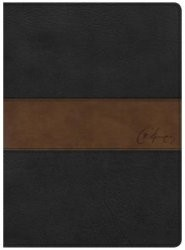 CSB Spurgeon Study Bible, Black/Brown LeatherTouch® (Imitation Leather)