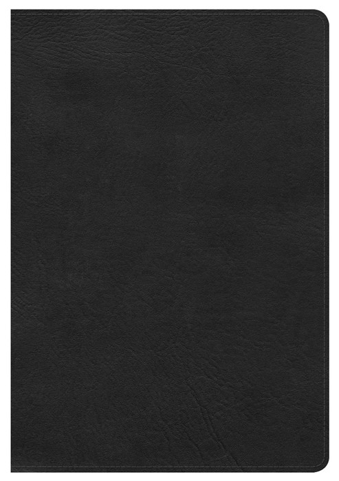HCSB Giant Print Reference Bible, Black, Indexed (Leather Binding)
