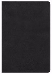 NKJV Super Giant Print Reference Bible, Black Leathertouch (Imitation Leather)