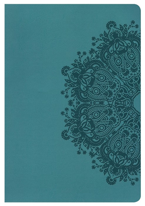 KJV Giant Print Reference Bible, Teal Leathertouch, Indexed (Imitation Leather)
